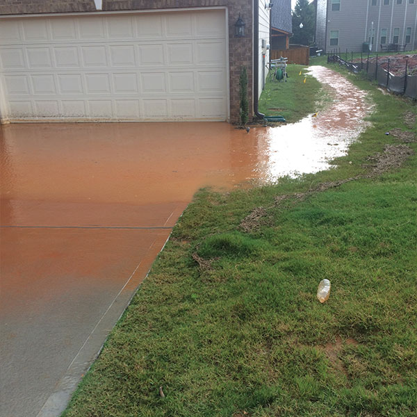 grading and drainage, flooded side yard